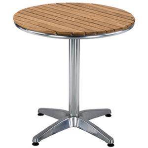 Hermosa mesa de madera aluminio comercial (DT-06270S3).