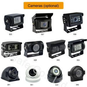 IP69K Anti-Fog impermeable e IR Noche Alquiler de espejo de la cámara de seguridad del vehículo
