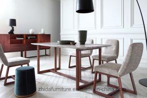 Encimera de mármol de madera maciza mesa de comedor con estilo moderno