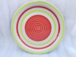 De aangepaste Ceramische Plaat van de Schotel van de Voorraad van het Embleem Goedkope Open