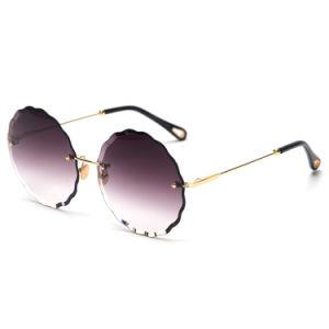De ronde Zonnebril van Frameless van de Kleur van de Gradiënt van de Vorm voor Vrouwen