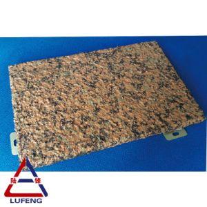 Granos de piedra de mármol de revestimiento de aluminio Paneles de pared