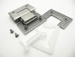 Offset de montagem na parede de trás da dobradiça da placa da dobradiça de duche de 90 Graus