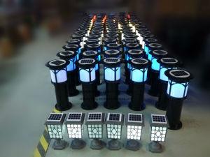 La alta eficiencia el control de plagas de mosquitos solar al aire libre de la luz de Asesino con alta calidad de acero inoxidable de alta Brightess &Xtmw LED7501