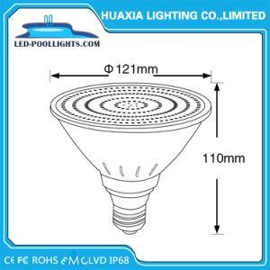 IP68 indicatore luminoso subacqueo spesso della piscina di vetro E27 PAR38 LED