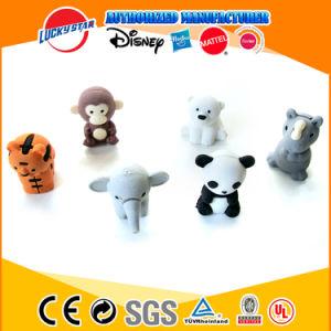 Borrador de los animales 3D con logotipo personalizado y de color para los niños