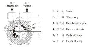 Sk-1.5 una etapa de la bomba de vacío de anillo líquido esterilizador autoclave