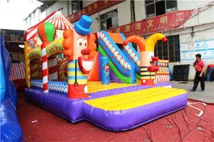 European Hot Sale spectacle de cirque gonflable gonflable Combo château gonflable avec toboggan CHB863