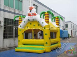 Tiger tema forestal de la casa de rebote de inflables para niños