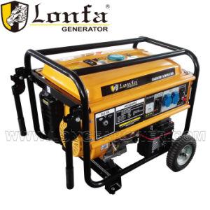 6.5KVA 15HP портативные бензиновые генератор с колеса