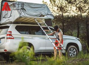 4WD tenda de tejadilho Hard Shell veículo automóvel a Capota de Lona degrau da escada telescópica de alumínio para camping e viagens