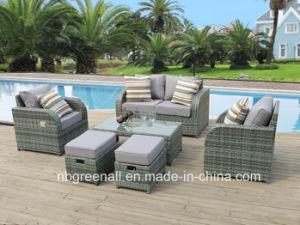 Nuovo indicare la mobilia esterna del giardino del sofà del rattan del patio
