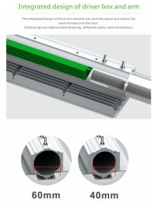 Shenzhen sustituir las luces de LED 125W 175W las lámparas halógenas de 40 vatios Impermeable IP67 40W luz LED de la calle