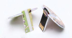 小型丸型のプラスチックカードUSBはカスタマイズされるロゴを受け入れる