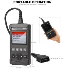進水のCreader 5001の診察道具O2センサーテストおよび内蔵モニタのコンポーネントの診断の完全な機能OBD2スキャンナー