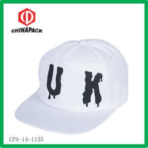 White Print Flat Hip Hop Caps (CPA-14-1135)