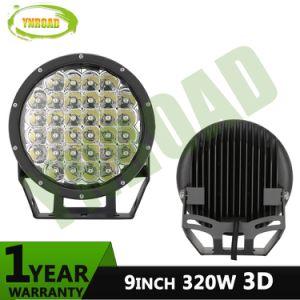 9pulgadas ronda CRIS 3D de 320W LED IP68, la luz de conducción offroad