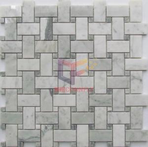 Knit-Form-Marmor bildete Küche-Spritzen-Mosaik (CFS1156)