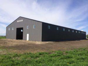 La construcción de la estructura de acero galvanizado con 100mm de paneles sándwich de lana de roca (KXD-SSB107).