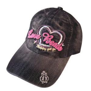 Tampas de beisebol lavados pesado com o logotipo do coração Gjwd1718