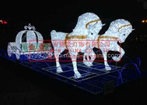 Luces de la Navidad Decorativas de Carro de la Calabaza de los Caballos (BW-SC-239)
