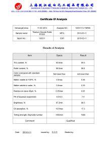 Rutilo R1930 Titanium Dioxide (vernici, uso ricoprente)