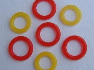 De Verschillende Ring op hoge temperatuur /O-Ring van het Silicone van de Grootte/van de Kleur