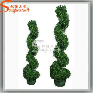 Decoração Topiary Buxo Bonsai planta artificial