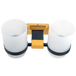 Санитарные продовольственный Wall-Mounted ванные комнаты аксессуары двойной тумблерный держатель
