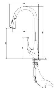 Grifo de Cocina de Estilo Elegante (AF1048-5A)