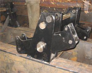 40feets Flatbed Semi Aanhangwagen 2axles (Dubbele Banden) die in China wordt vervaardigd