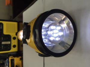 8 LED pour l'extérieur Chargeur de téléphone cellulaire de la manivelle de la radio avec lampe de poche (HT-3068)