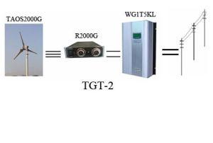 2Квт ветровой турбины на сеточной системы (TGT-2)