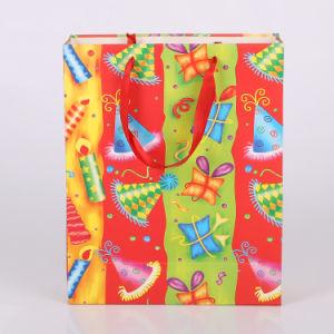 El papel de la bolsa de regalo de Navidad de lujo