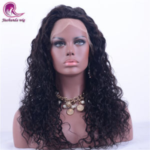 Remy Indian Virgen delantero brasileño de cabello humano pleno encaje peluca