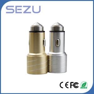 Caricatore doppio dell'automobile del USB Aerometal di migliore disegno di vendite più nuovo con il martello di sicurezza per il telefono mobile
