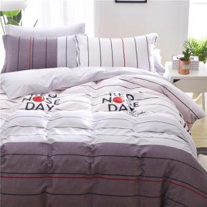 韓国様式によって8PCSは感覚のクイーンサイズの花デザインポリエステル一定の寝具が家へ帰る