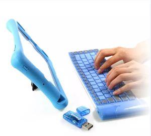 Het universele Mini Zachte Toetsenbord van het Gokken van Bluetooth van het Toetsenbord van het Silicone Vouwbare Draadloze