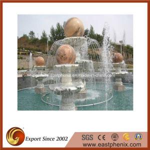 Mármol natural de agua tallado en piedra de granito/Music/bola Estatua Fuente para jardín/pared/Outdoor