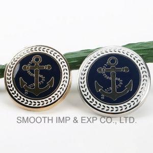 Commerce de gros fashion promotion tige en métal Logo Nickle bouton accessoire du vêtement