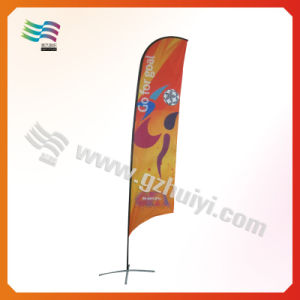 Bandierina di spiaggia pieghevole rettangolare della bandiera del Teardrop di pubblicità esterna (HY-AF567)