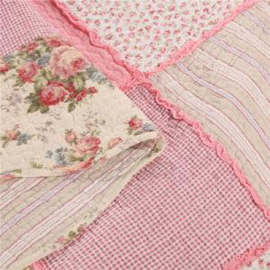 綿のシェル及び綿の詰物が付いている熱い販売のピンクのパッチワークキルト