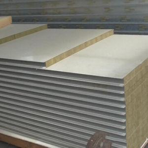 Aislamiento térmico de materiales de construcción sándwich de lana de roca de la Junta compuesto