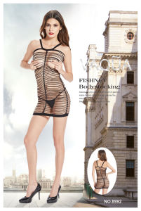 Mesdames sexy Intimates Open Cup 8992 Fishnet & Lace nuisette