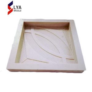 Mur de bois de placage de moule en silicone de panneaux de tuile moule 3D