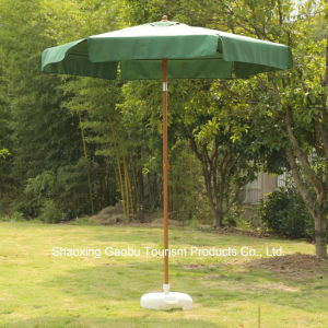 Promoción sombrilla de jardín como acabado de madera