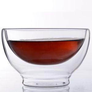 Glasschale, Bol en Verre, verdoppeln geummauerte GlasMatcha Filterglocke