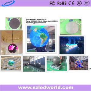 Tela interna/ao ar livre de P6 do diodo emissor de luz da esfera de indicador para o estágio/exposição