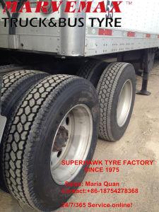 Smartway Eco Truck Tire, Marvemax Superhawk Drive Tire Schwer-Aufgabe Radial Truck Tire Premium Qulaity Truck Tire (11r22.5 295/75r22.5)