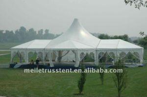 屋外の800人のイベントの結婚披露宴白いPVCカバーテント